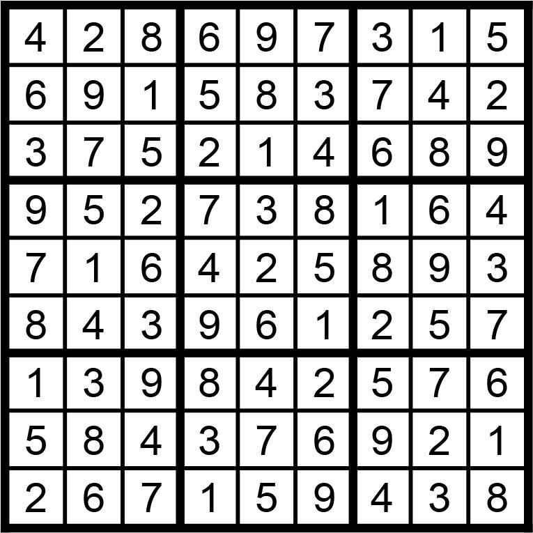 Facit till sudoku svår nr 1 2021