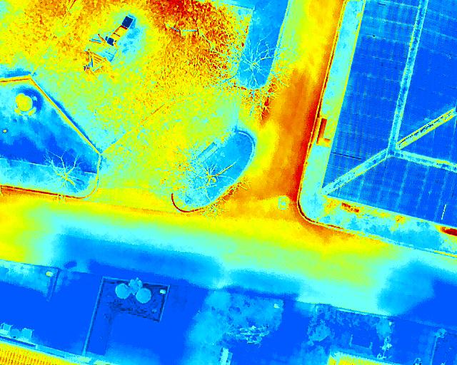 Exempel på hur värmekamerans bilder kan se ut